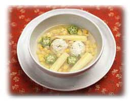 たっぷりコーンの中華スープ