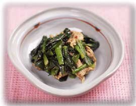 小松菜の中国風炒め煮
