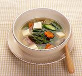 アスパラ入り鯛スープ
