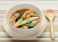 松本一本ねぎと豚バラ肉のスープ風