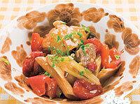 セルリーと豚肉のトマト煮