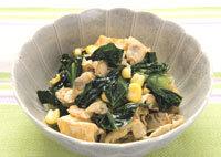 小松菜とあさりの炒め煮
