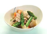 アスパラガスと豆腐のホッと煮