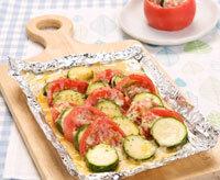 トマトとズッキーニのチーズ焼き