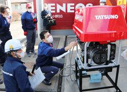 北小野SSで災害時給油訓練を実施 災害時設備導入率58%に